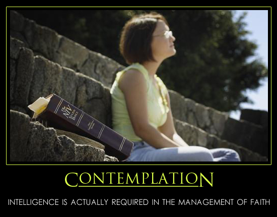 Contemplation Motivational Poster
